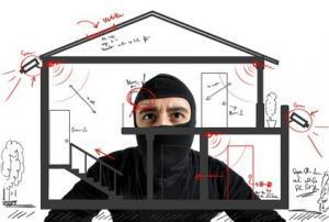 Einbrecher mit Plan
